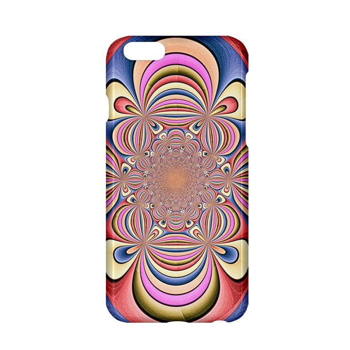 Pastel Shades Ornamental Flower Apple iPhone 6/6S Hardshell Case
