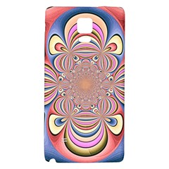 Pastel Shades Ornamental Flower Galaxy Note 4 Back Case