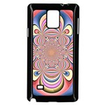 Pastel Shades Ornamental Flower Samsung Galaxy Note 4 Case (Black) Front