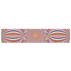 Pastel Shades Ornamental Flower Flano Scarf (small)