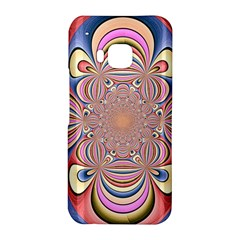 Pastel Shades Ornamental Flower HTC One M9 Hardshell Case