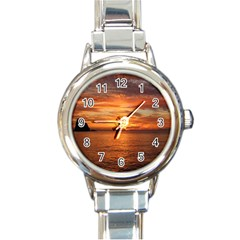 Sunset Sea Afterglow Boot Round Italian Charm Watch