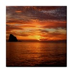 Sunset Sea Afterglow Boot Tile Coasters Front