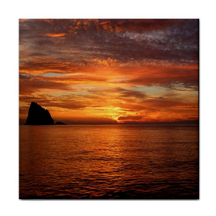 Sunset Sea Afterglow Boot Tile Coasters