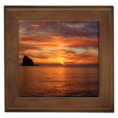 Sunset Sea Afterglow Boot Framed Tiles