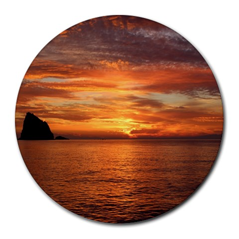 Sunset Sea Afterglow Boot Round Mousepads