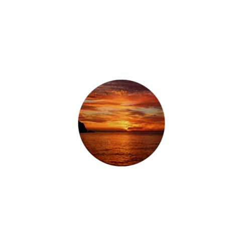 Sunset Sea Afterglow Boot 1  Mini Magnets