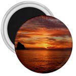 Sunset Sea Afterglow Boot 3  Magnets Front