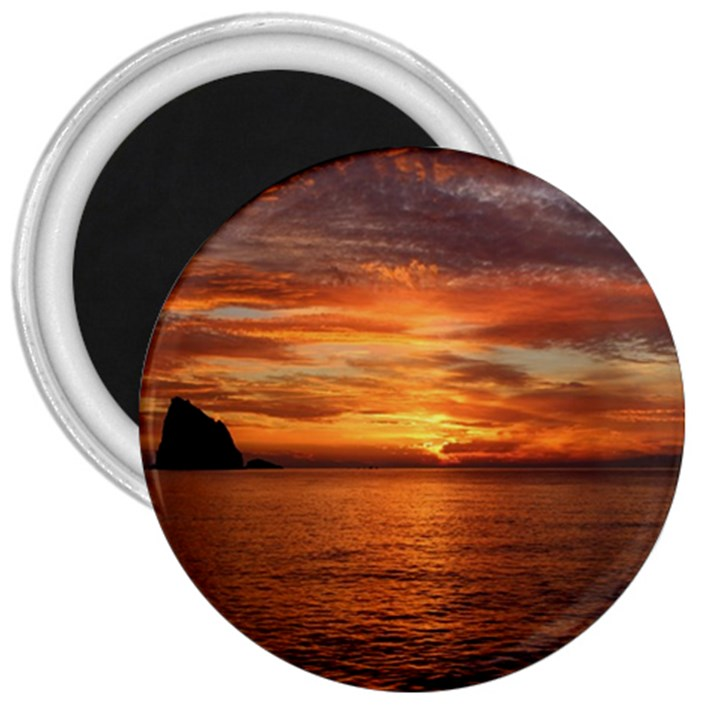 Sunset Sea Afterglow Boot 3  Magnets