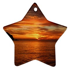 Sunset Sea Afterglow Boot Ornament (Star)