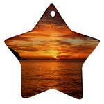 Sunset Sea Afterglow Boot Ornament (Star)  Front