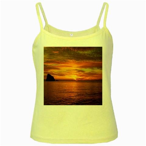 Sunset Sea Afterglow Boot Yellow Spaghetti Tank