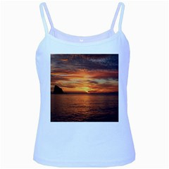 Sunset Sea Afterglow Boot Baby Blue Spaghetti Tank