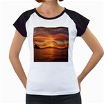 Sunset Sea Afterglow Boot Women s Cap Sleeve T Front