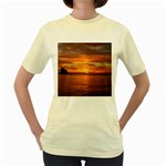 Sunset Sea Afterglow Boot Women s Yellow T-Shirt Front