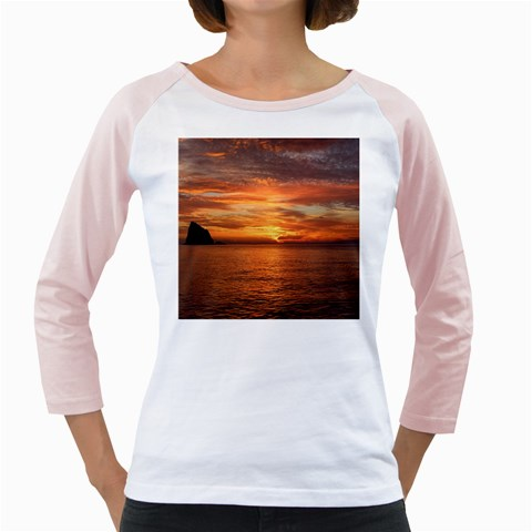Sunset Sea Afterglow Boot Girly Raglans