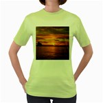 Sunset Sea Afterglow Boot Women s Green T-Shirt Front