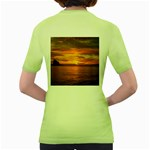 Sunset Sea Afterglow Boot Women s Green T-Shirt Back