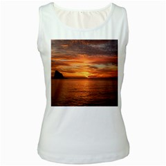 Sunset Sea Afterglow Boot Women s White Tank Top