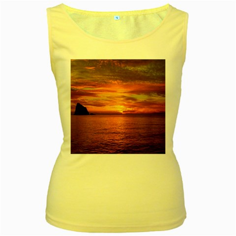 Sunset Sea Afterglow Boot Women s Yellow Tank Top