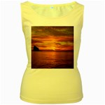 Sunset Sea Afterglow Boot Women s Yellow Tank Top Front
