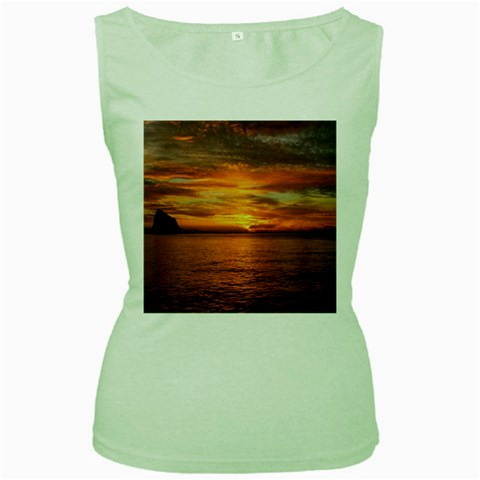 Sunset Sea Afterglow Boot Women s Green Tank Top
