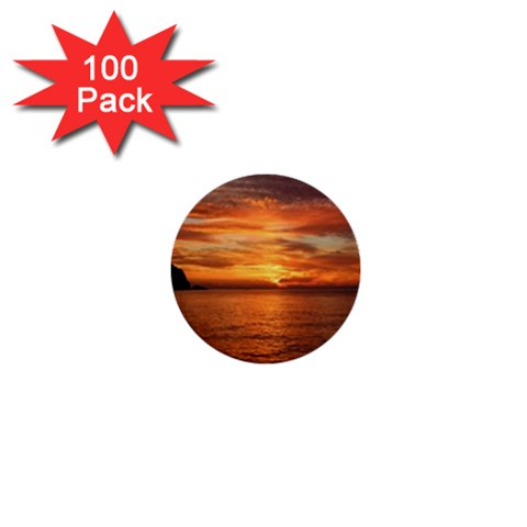 Sunset Sea Afterglow Boot 1  Mini Buttons (100 pack)