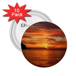 Sunset Sea Afterglow Boot 2.25  Buttons (10 pack)  Front