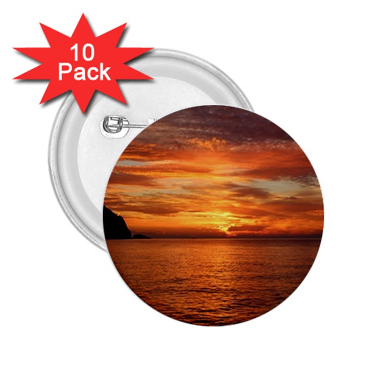 Sunset Sea Afterglow Boot 2.25  Buttons (10 pack)