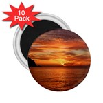 Sunset Sea Afterglow Boot 2.25  Magnets (10 pack)  Front