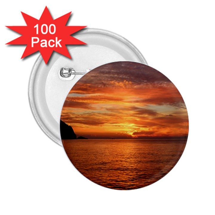 Sunset Sea Afterglow Boot 2.25  Buttons (100 pack)