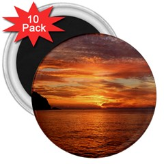 Sunset Sea Afterglow Boot 3  Magnets (10 pack)