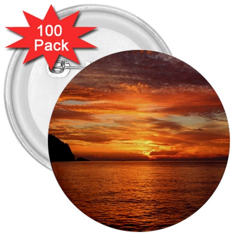 Sunset Sea Afterglow Boot 3  Buttons (100 pack)