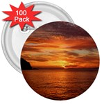 Sunset Sea Afterglow Boot 3  Buttons (100 pack)  Front