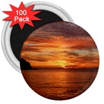 Sunset Sea Afterglow Boot 3  Magnets (100 pack) Front