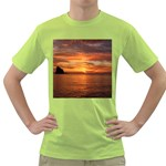 Sunset Sea Afterglow Boot Green T-Shirt Front