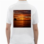 Sunset Sea Afterglow Boot Golf Shirts Back