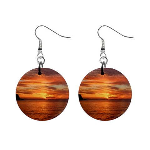 Sunset Sea Afterglow Boot Mini Button Earrings