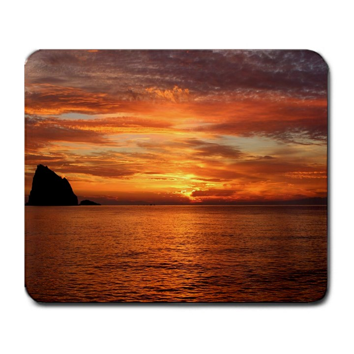 Sunset Sea Afterglow Boot Large Mousepads