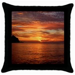 Sunset Sea Afterglow Boot Throw Pillow Case (Black) Front