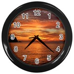 Sunset Sea Afterglow Boot Wall Clocks (Black) Front