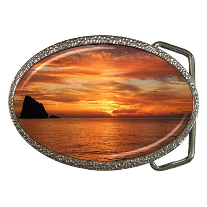 Sunset Sea Afterglow Boot Belt Buckles