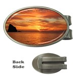 Sunset Sea Afterglow Boot Money Clips (Oval)  Front