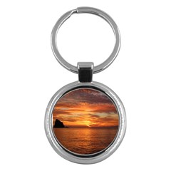Sunset Sea Afterglow Boot Key Chains (Round)