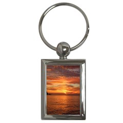 Sunset Sea Afterglow Boot Key Chains (Rectangle)
