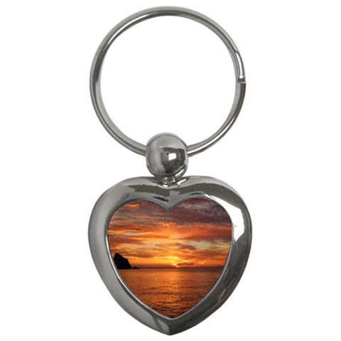Sunset Sea Afterglow Boot Key Chains (Heart)
