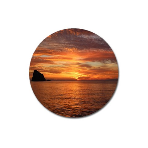 Sunset Sea Afterglow Boot Magnet 3  (Round)