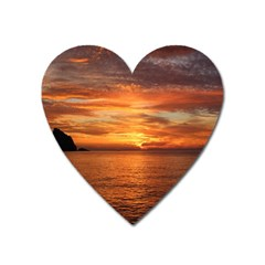 Sunset Sea Afterglow Boot Heart Magnet