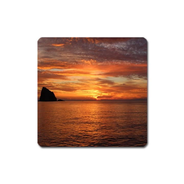 Sunset Sea Afterglow Boot Square Magnet