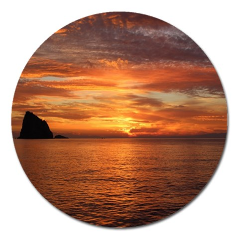 Sunset Sea Afterglow Boot Magnet 5  (Round)